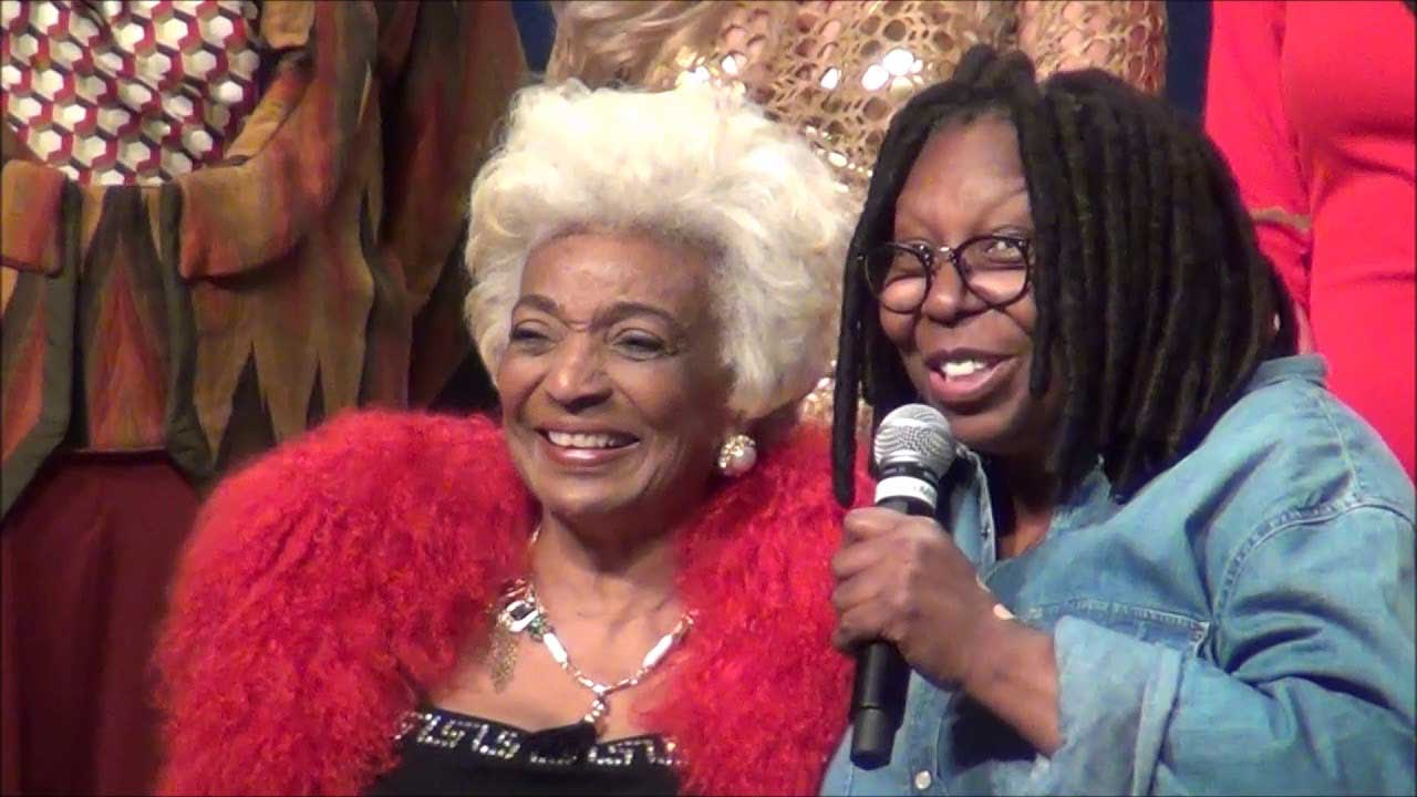 Nichelle Nichols and Whoopi Goldberg