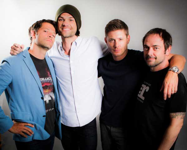 Misha, Jared, Jensen and Mark
