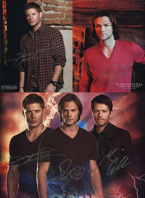 Misha, Jensen, and Jared Autograph Photos