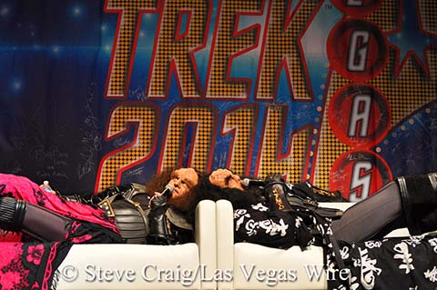 JG Hertzler and Robert O'Reilly as Gowron amd Martok