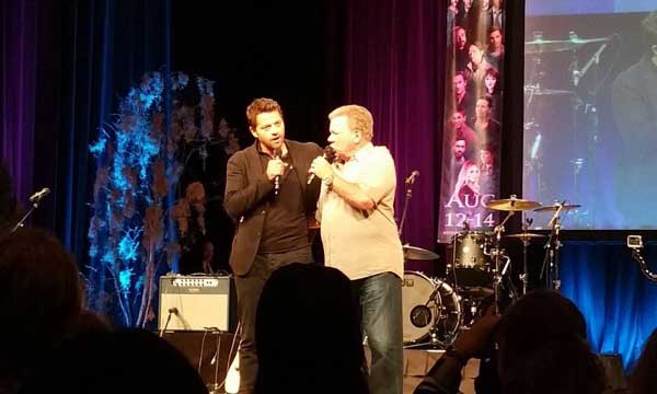 Misha Collins and William Shatner