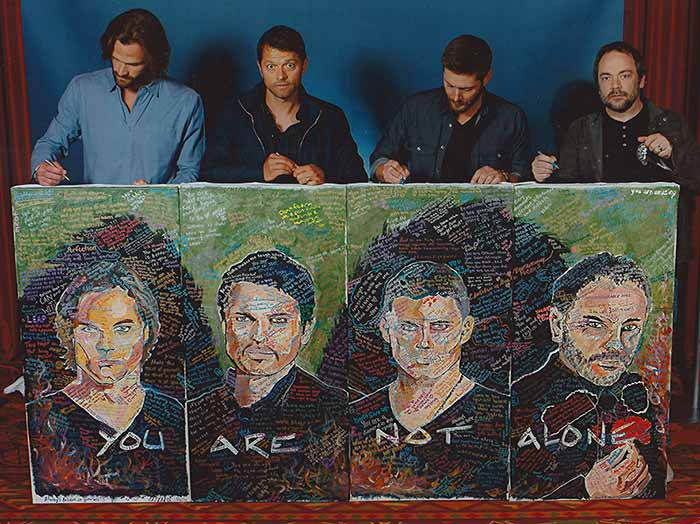 Misha, Jensen, Jared and Mark
