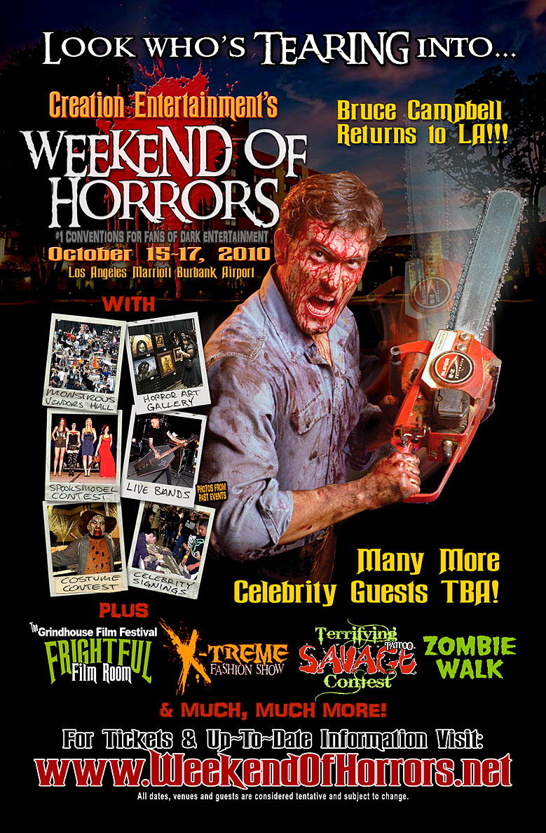 weekend of horrors returns in October 2010!