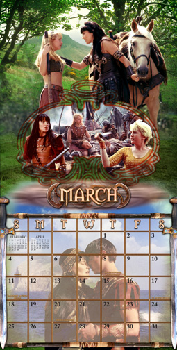 xena 2005 art montage calendar