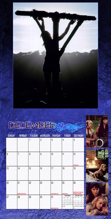 xena 2009 photo calendar