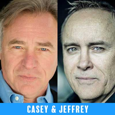 Casey Biggs and Jeffrey Combs